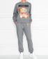 Свитшот из хлопка с принтом Moschino  –  МодельОбщийВид