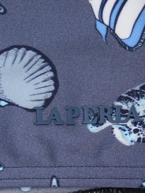 Шорты купальные с узором La Perla - Деталь