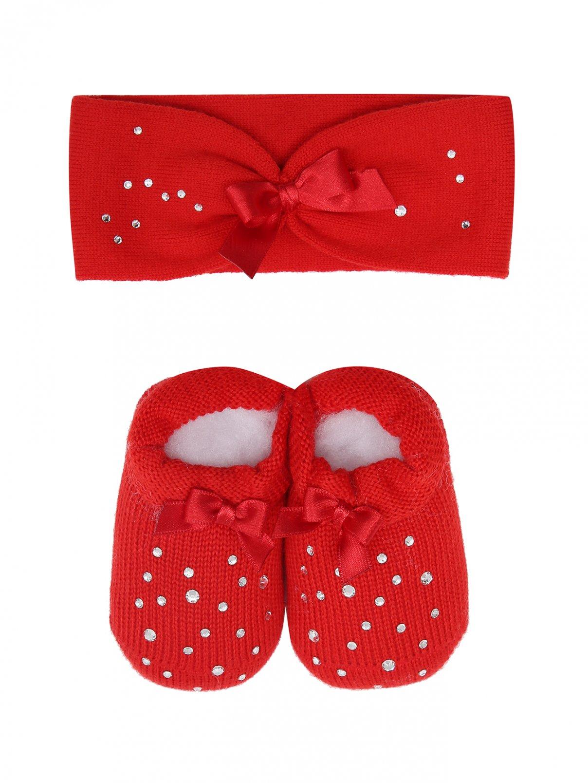 Комплект для девочки из повязки и пинеток Story Loris  –  Общий вид