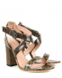 Босоножки из фактурной кожи на устойчивом каблуке Alberta Ferretti  –  Общий вид