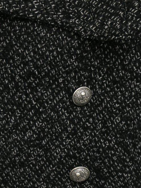Двубортное полупальто из шерсти - Деталь