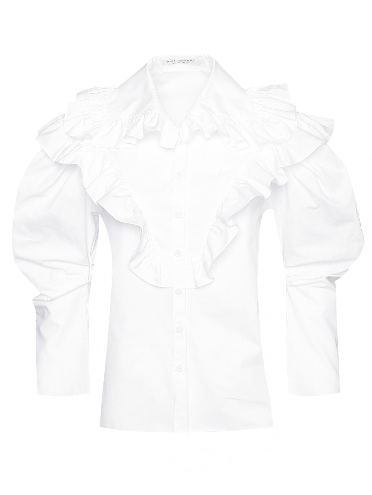 Блуза из хлопка с рюшами Philosophy Di Lorenzo Serafini  –  Общий вид