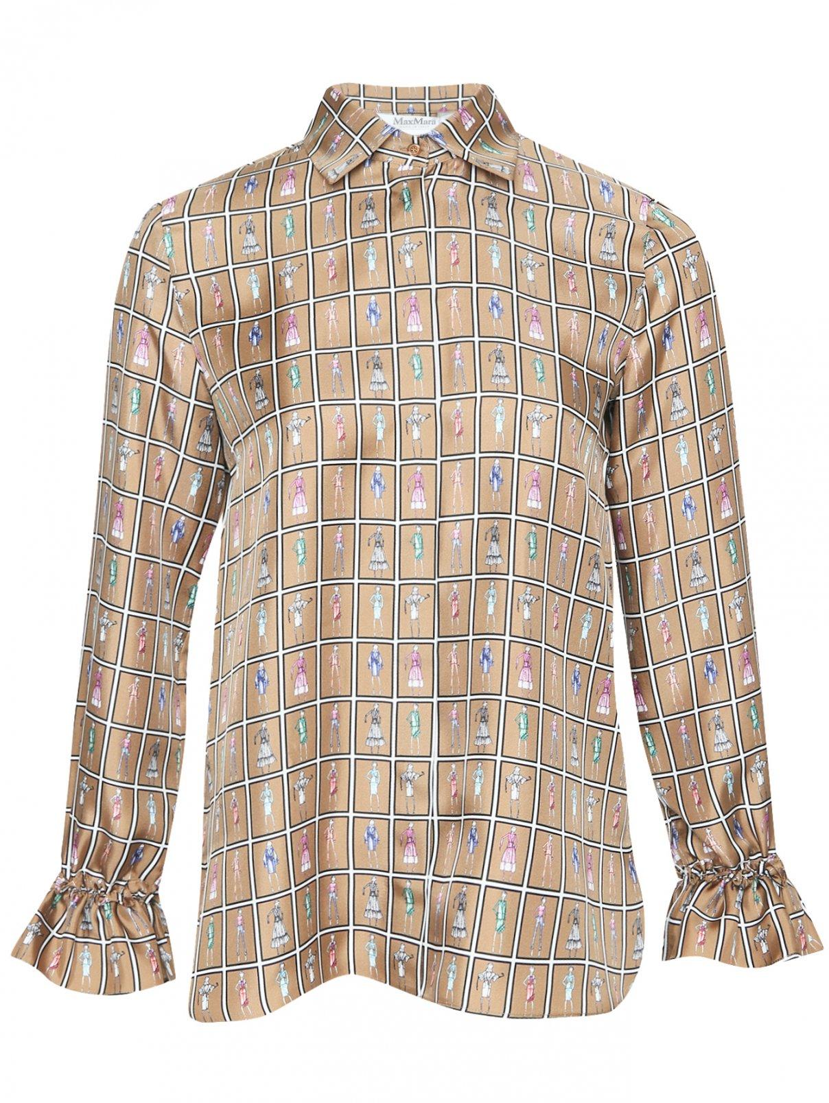 Блуза из шелка с узором Max Mara  –  Общий вид
