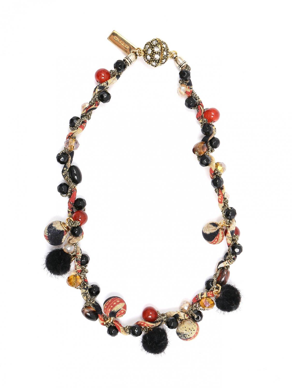 Ожерелье из шелка и меди на магнитной застежке Etro  –  Общий вид