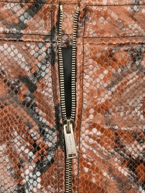 Юбка-миди из кожи с узором Dsquared2 - Деталь1