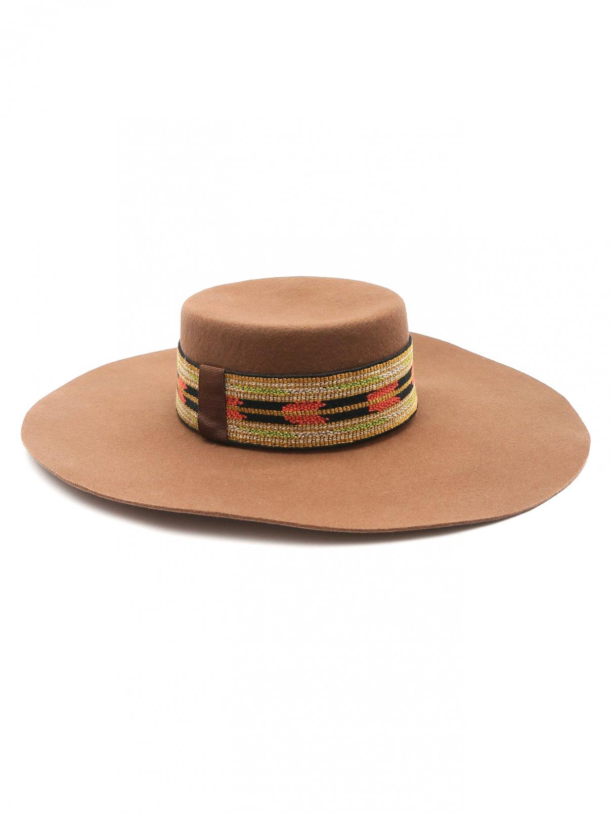 Шляпа из шерсти с контрастной отделкой Etro  –  Общий вид