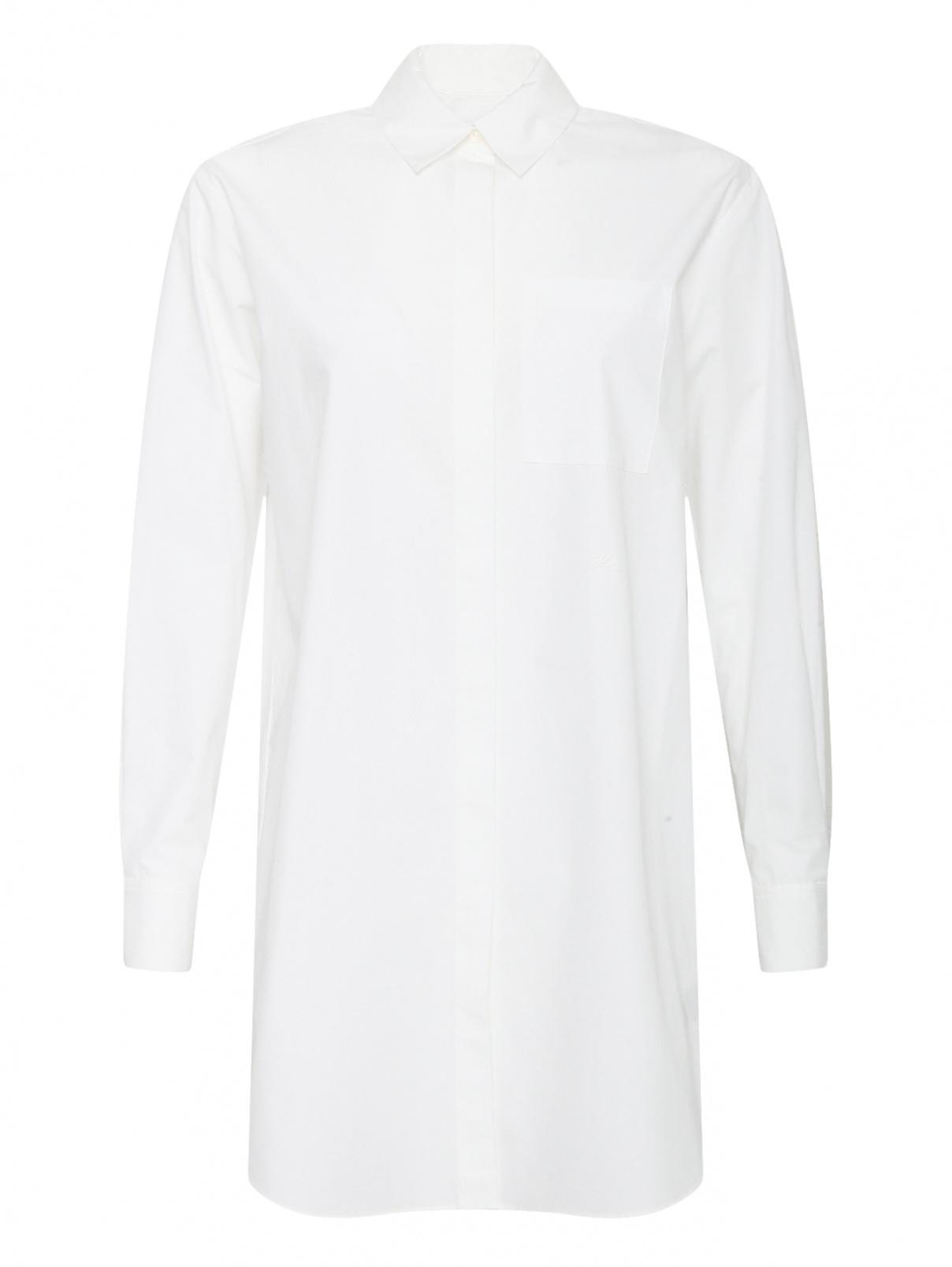 Блуза удлиненная с вышивкой Karl Lagerfeld  –  Общий вид