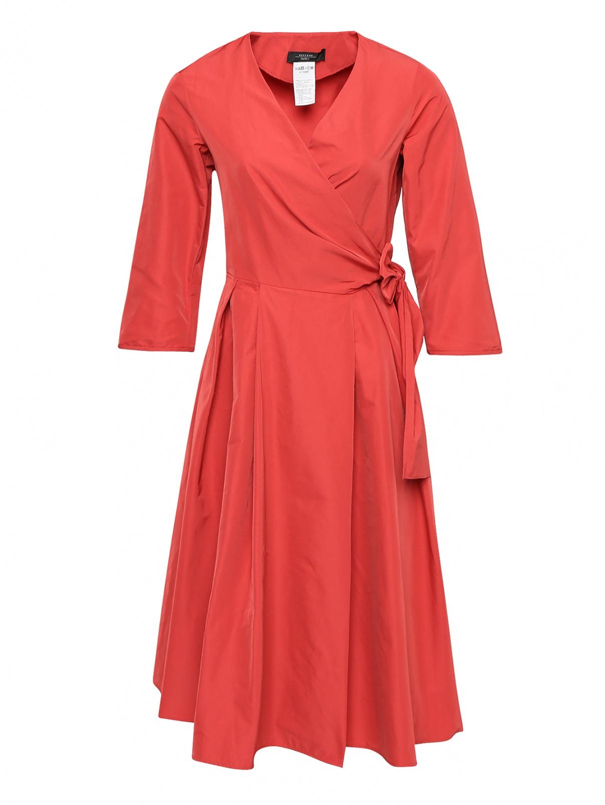 Платье хлопковое с запахом Weekend Max Mara  –  Общий вид