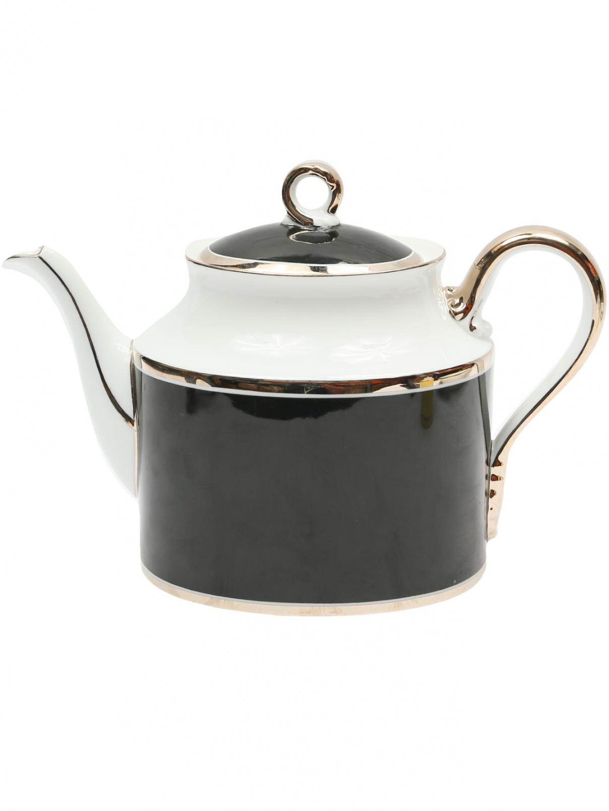 Фарфоровый чайник с серебряной окантовкой Richard Ginori 1735  –  Общий вид