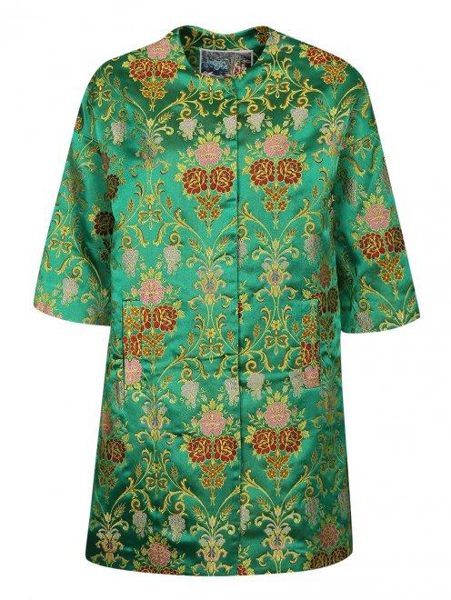 Легкое пальто с цветочным узором - Общий вид