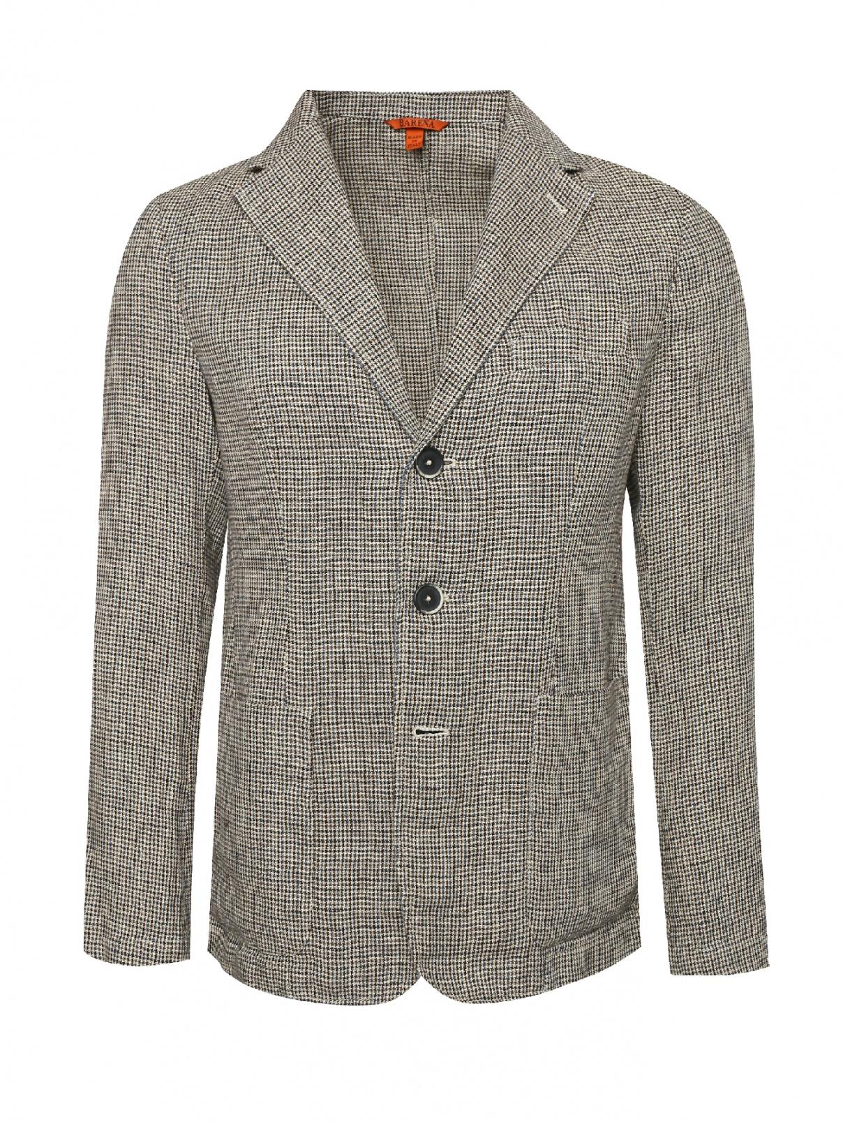 Пиджак однобортный изо льна Barena  –  Общий вид