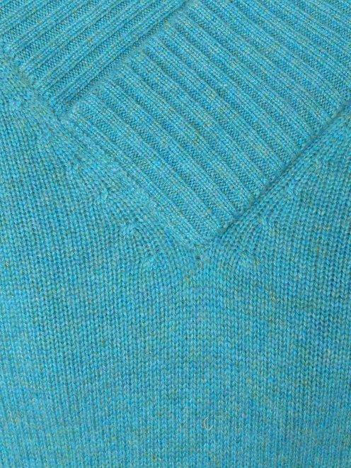 Пуловер из кашемира  свободного кроя - Деталь