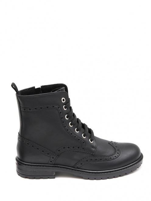 Ботинки кожаные с перфорацией Zecchino d`Oro - Общий вид