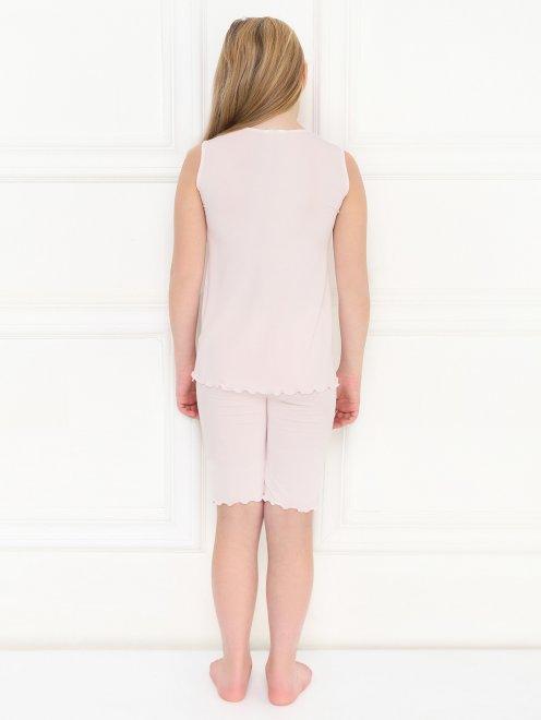 Пижама трикотажная с кружевным декором La Perla - МодельОбщийВид2