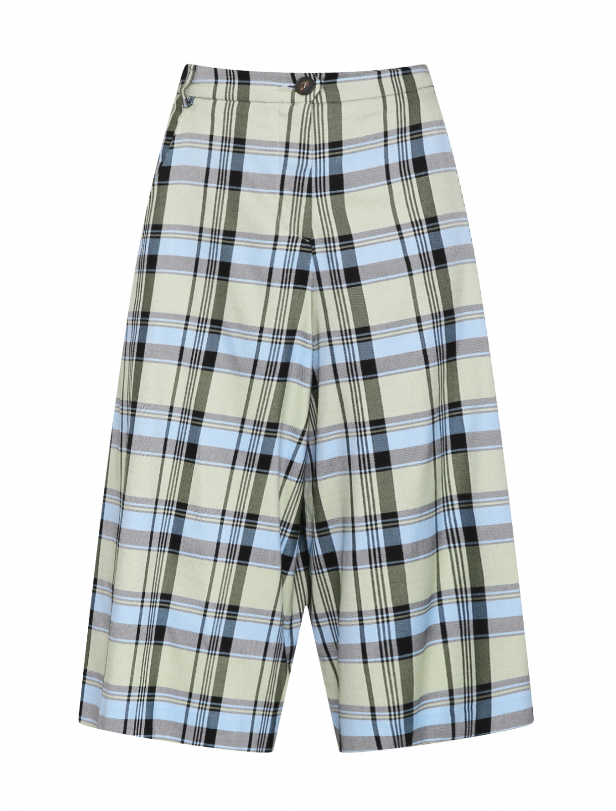 Удлиненные шорты из смессового хлопка в клетку Antonio Marras  –  Общий вид