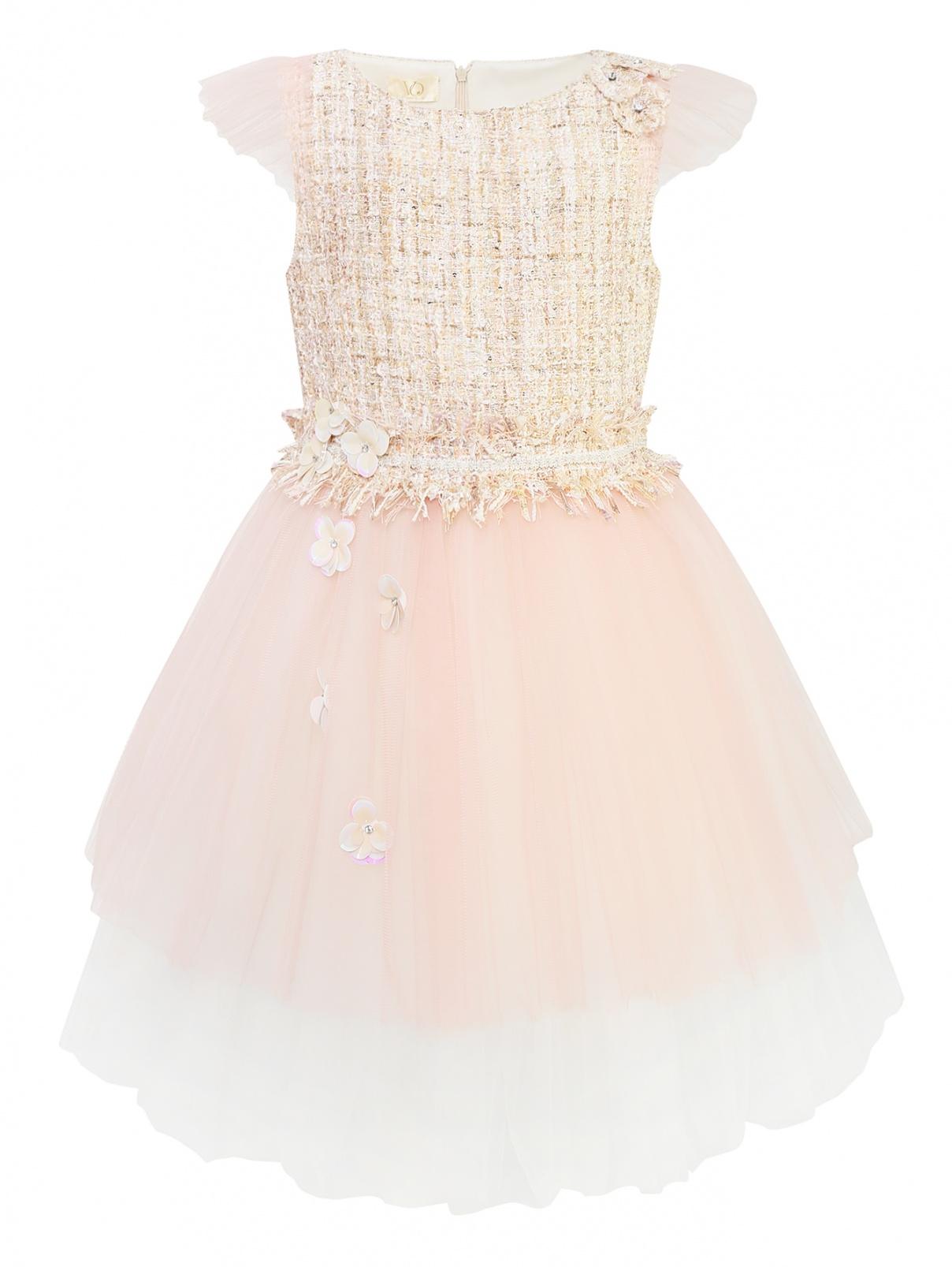 Мини-платье с юбкой из сетки Veronique Oisillon  –  Общий вид