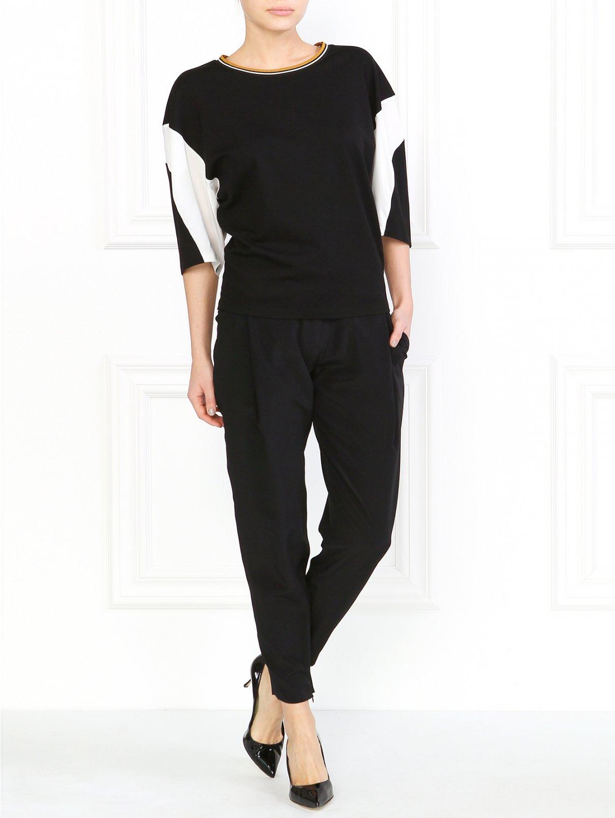 Шелковые брюки с боковыми карманами Barbara Bui  –  Модель Общий вид