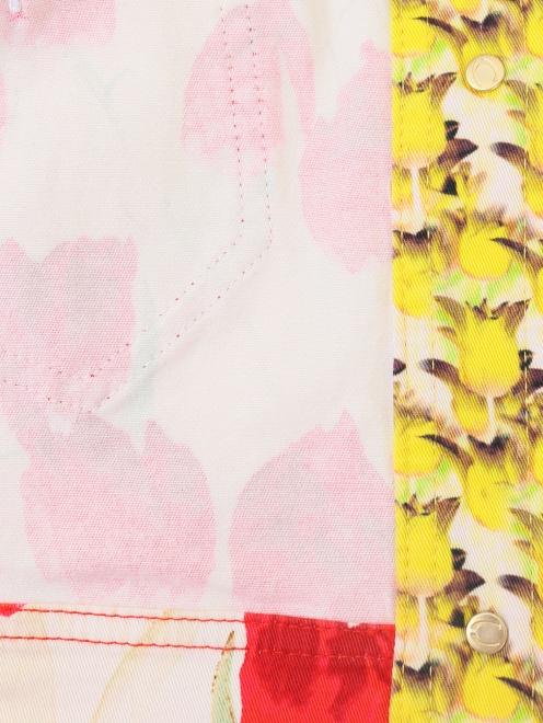 Укороченный жакет из хлопка, с цветочным узором - Деталь2