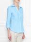 Блуза из льна в полоску Brooks Brothers  –  МодельВерхНиз