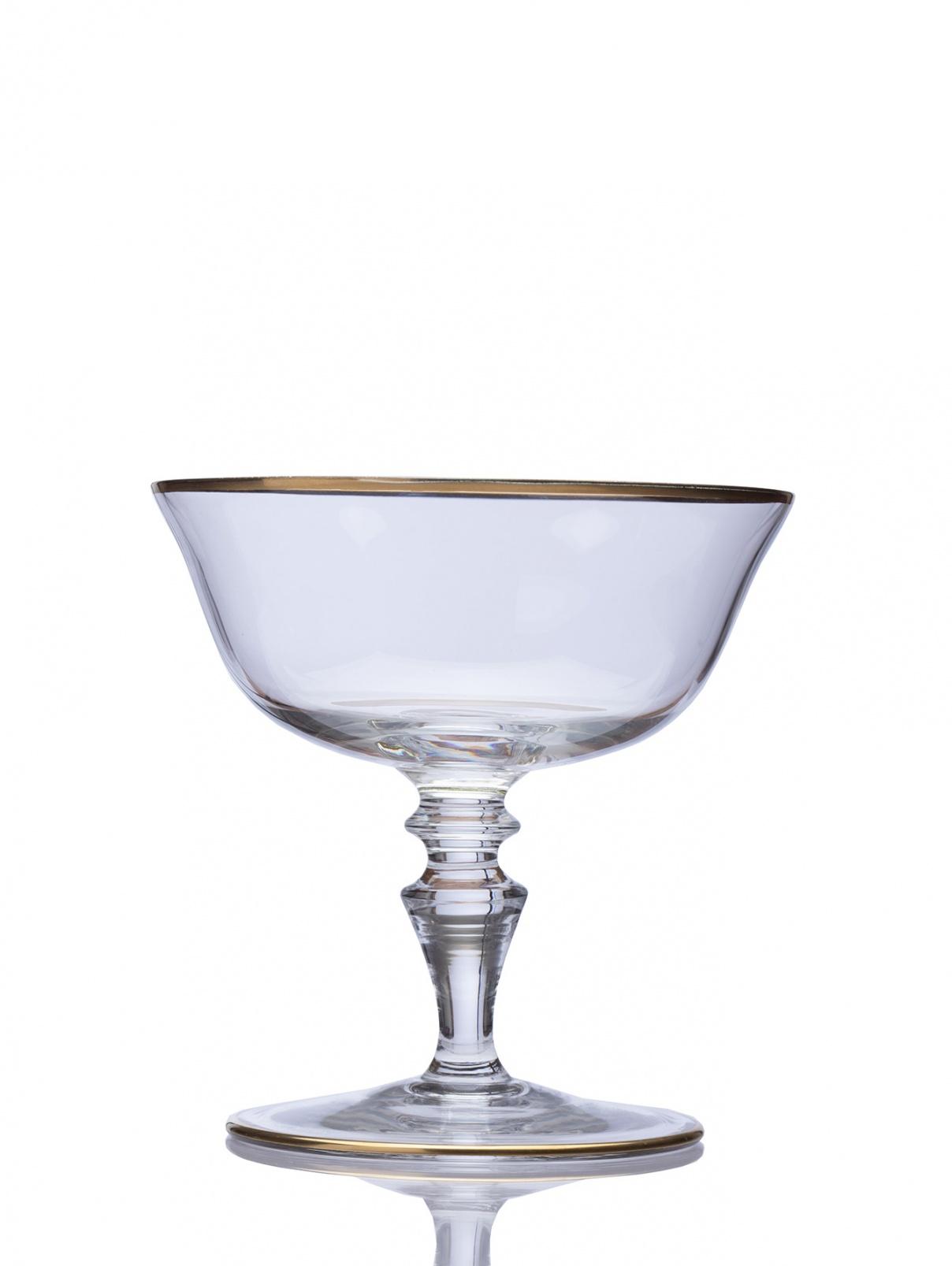 Чаша для шампанского с кантом из золота, высота - 11,4 см, диаметр - 11,2 см NasonMoretti  –  Общий вид