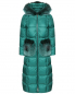 Пуховик на молнии с меховой отделкой Blanchett Goos  –  Общий вид