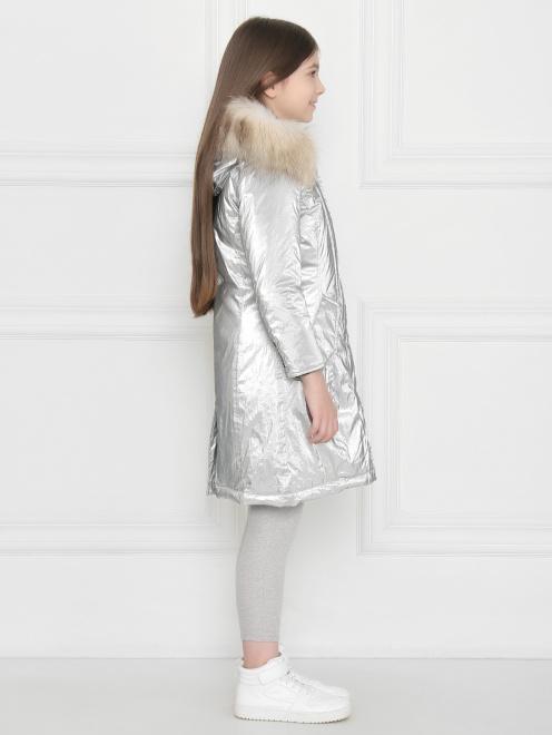 Куртка удлиненная с капюшоном с меховой отделкой - МодельВерхНиз2