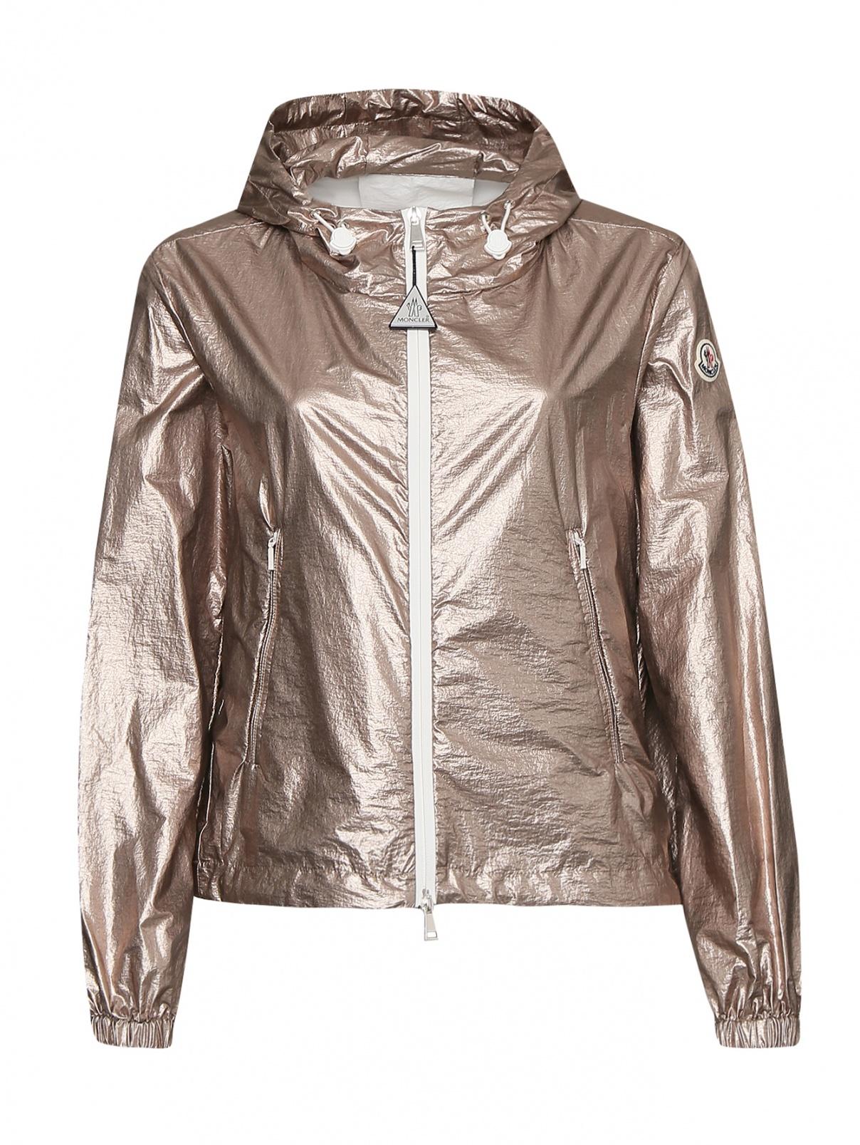 Ветровка на молнии с карманами Moncler  –  Общий вид