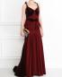 Платье-макси с велюровыми вставками Zac Posen  –  МодельОбщийВид