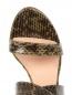 Босоножки из фактурной кожи на устойчивом каблуке Alberta Ferretti  –  Обтравка3