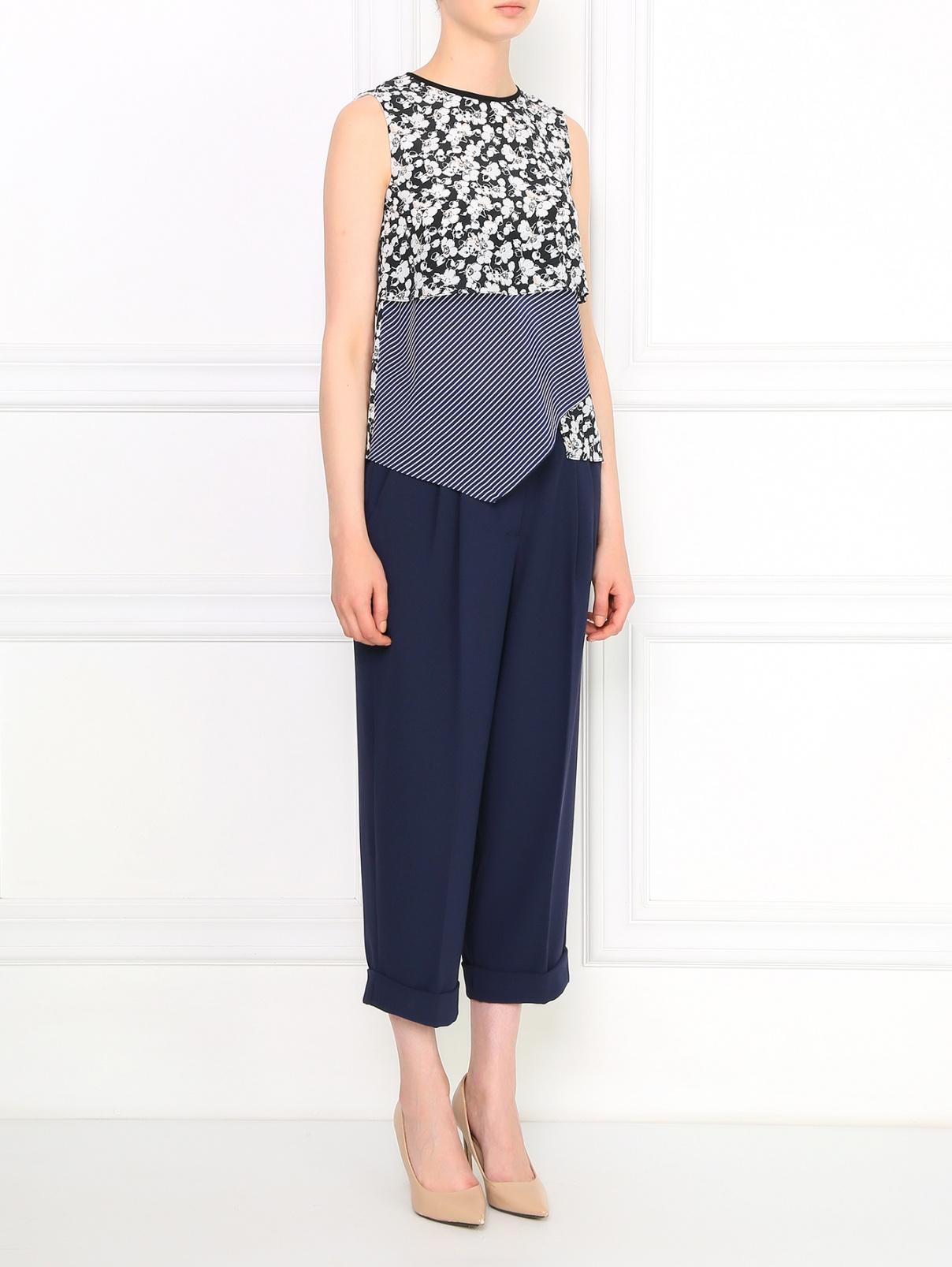 Укороченные брюки с боковыми карманами Sportmax Code  –  Модель Общий вид