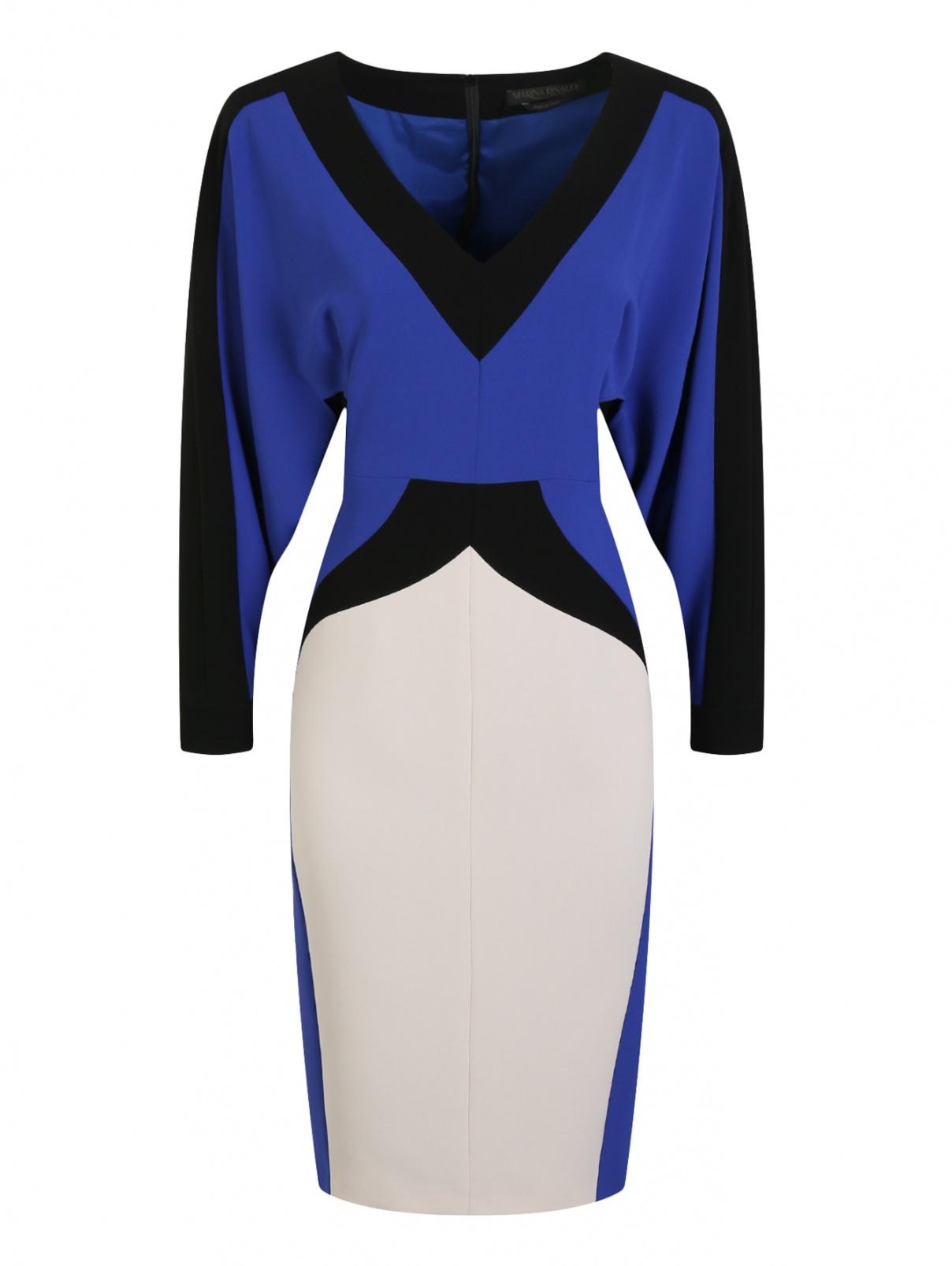 Платье-футляр с контрастной отделкой Marina Rinaldi  –  Общий вид