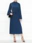 Платье-миди из шелка с поясом Rochas  –  МодельОбщийВид