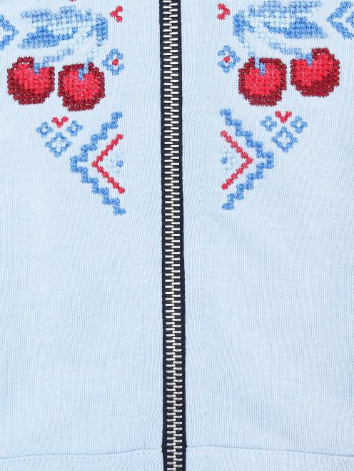 Толстовка хлопковая с вышивкой - Деталь