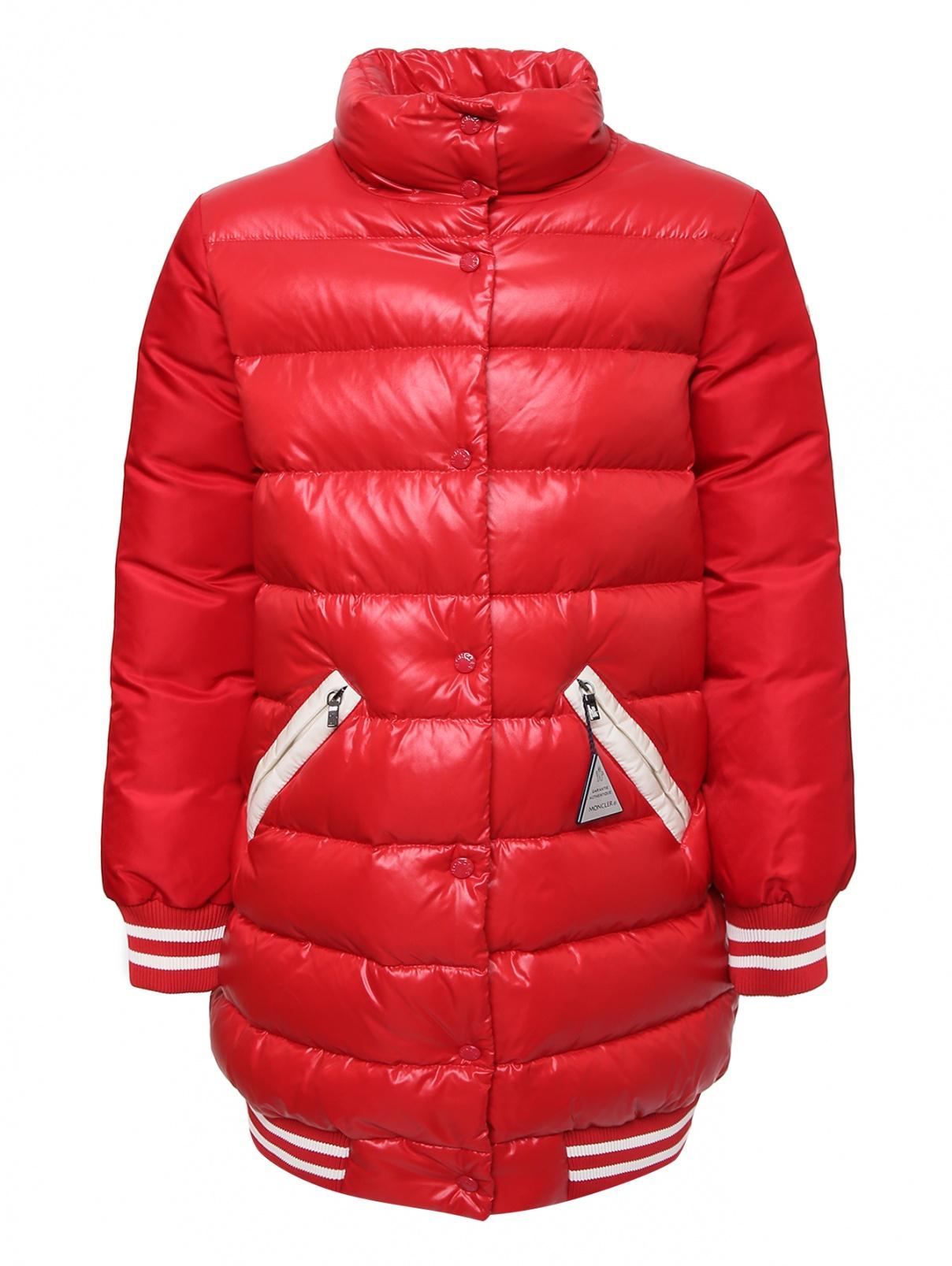 Пальто на пуховом подкдаде Moncler  –  Общий вид