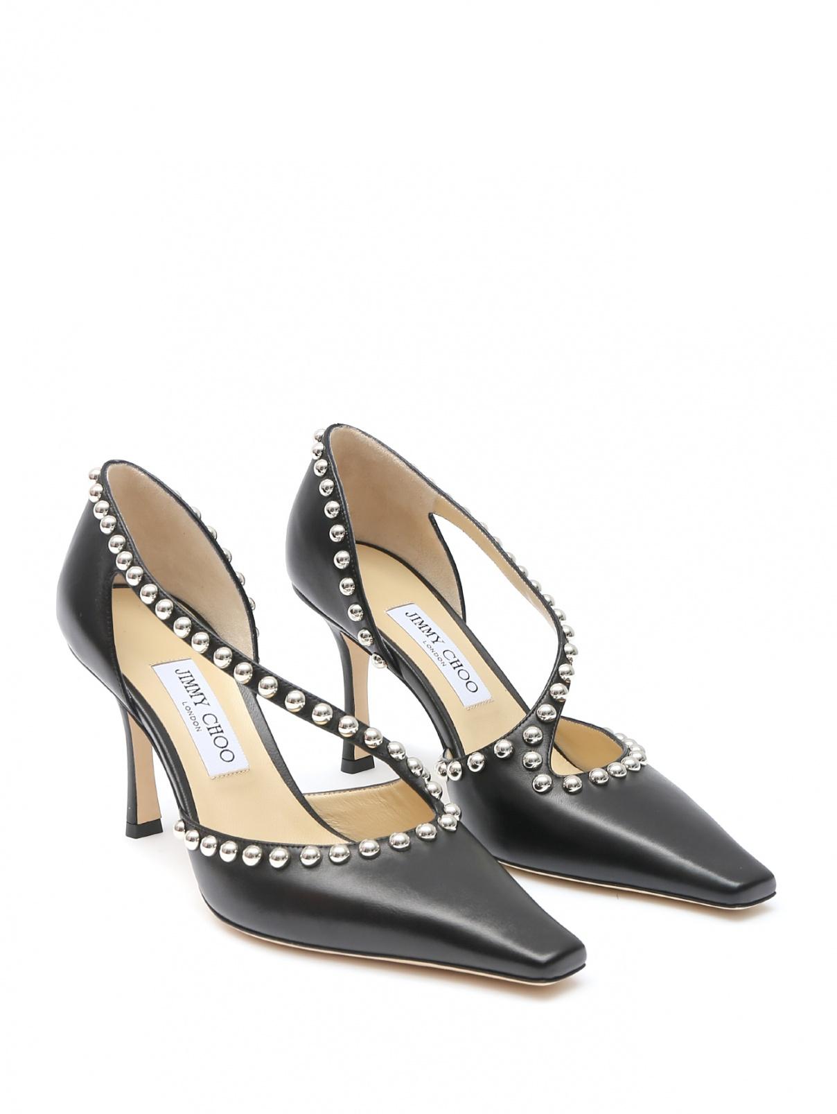 Туфли из гладкой кожи с металлическим декором Jimmy Choo  –  Общий вид
