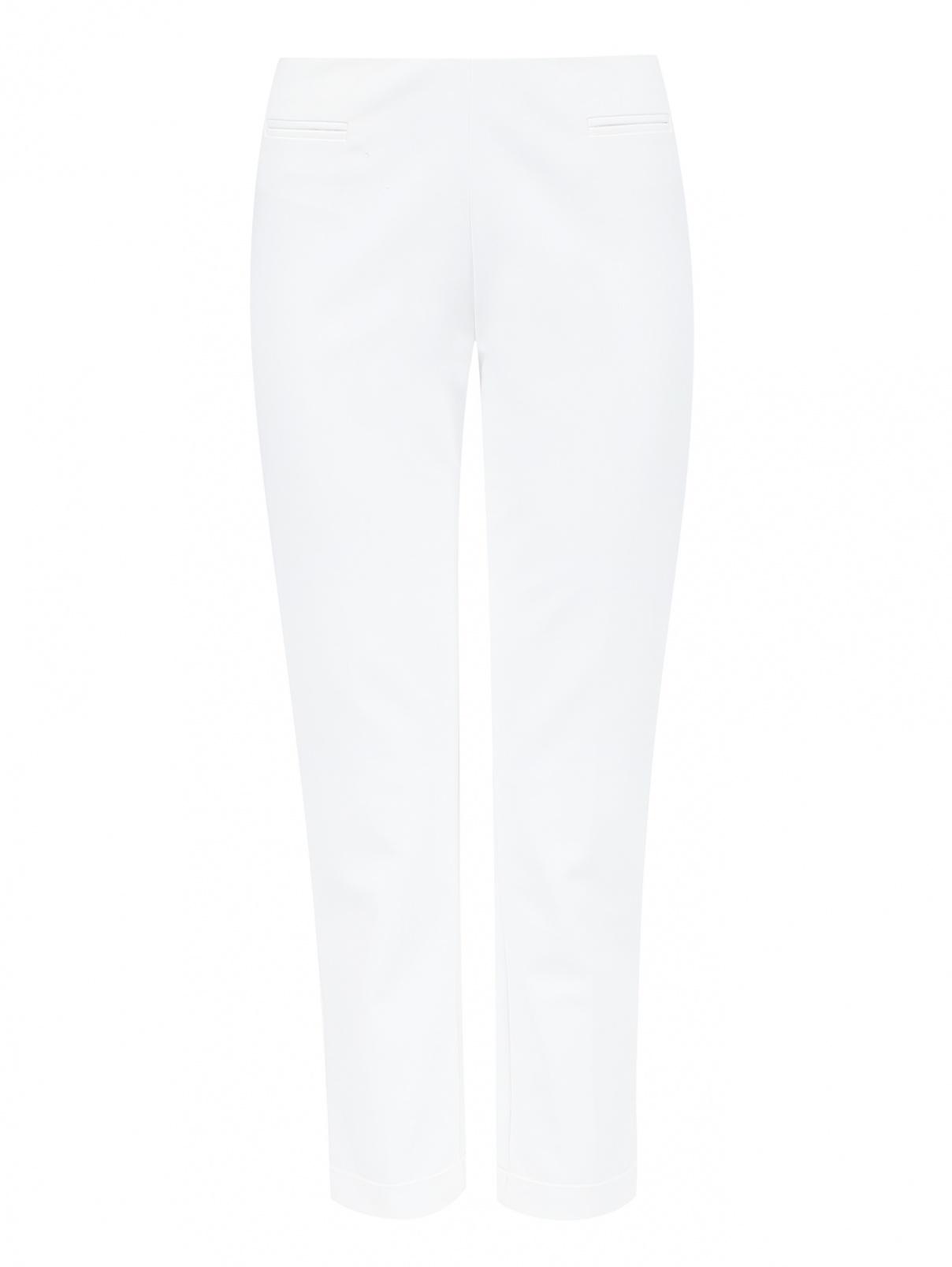 Узкие укороченные брюки из хлопка Love Moschino  –  Общий вид