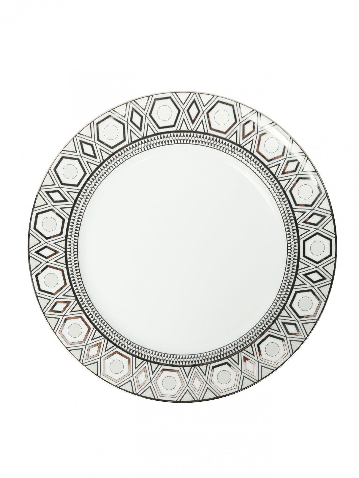 Блюдо круглое из фарфора с геометрическим орнаментом Haviland  –  Общий вид