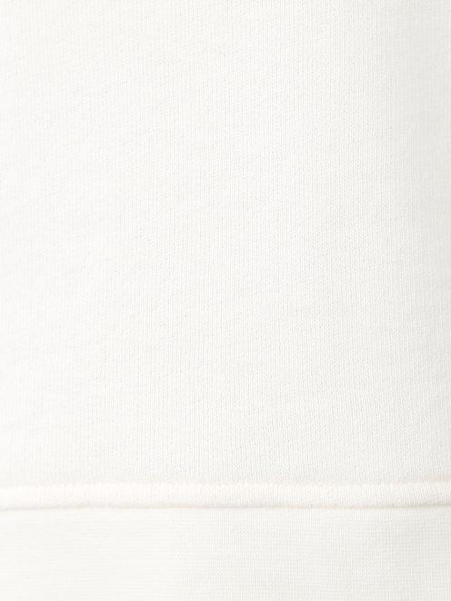 Свитшот из хлопка с отделкой кружевом и шнуровкой - Деталь1