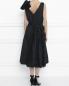 Платье-миди из хлопка с отделкой из кружева Rochas  –  МодельВерхНиз1