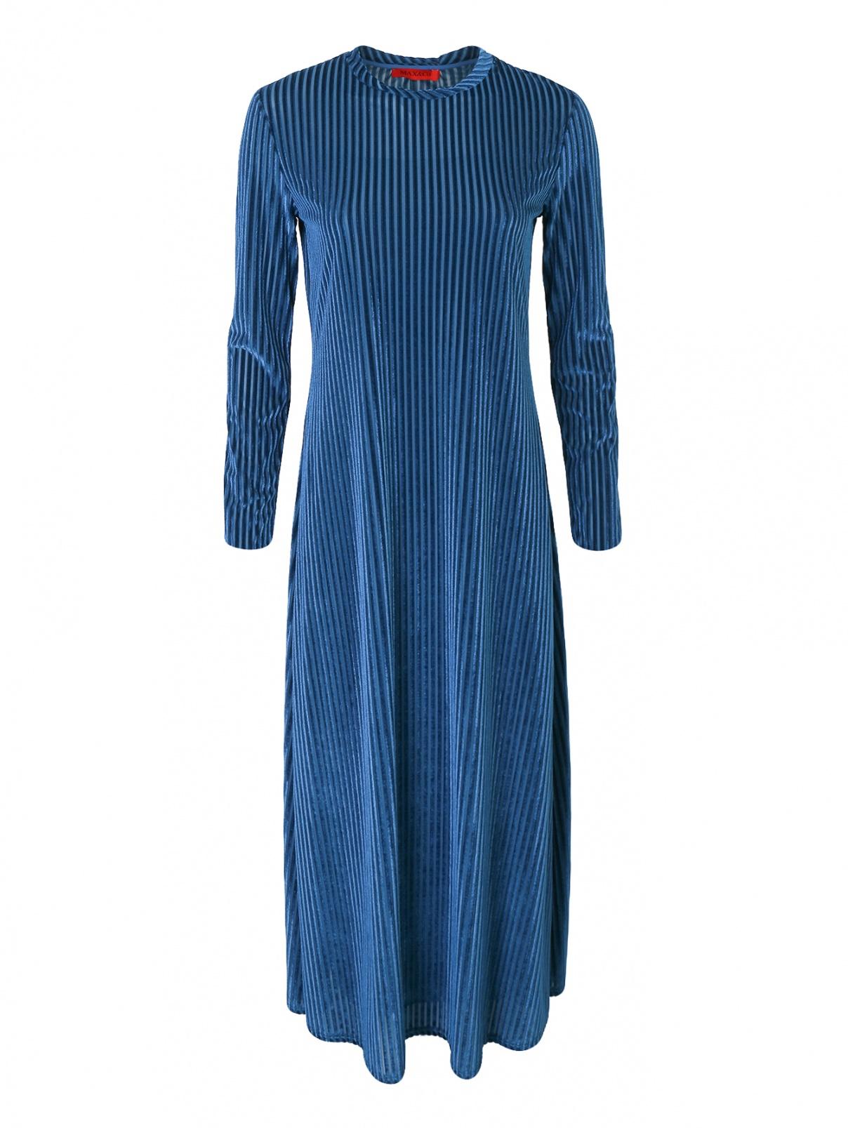 Платье-макси из бархата Max&Co  –  Общий вид