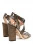 Босоножки из фактурной кожи на устойчивом каблуке Alberta Ferretti  –  Обтравка2