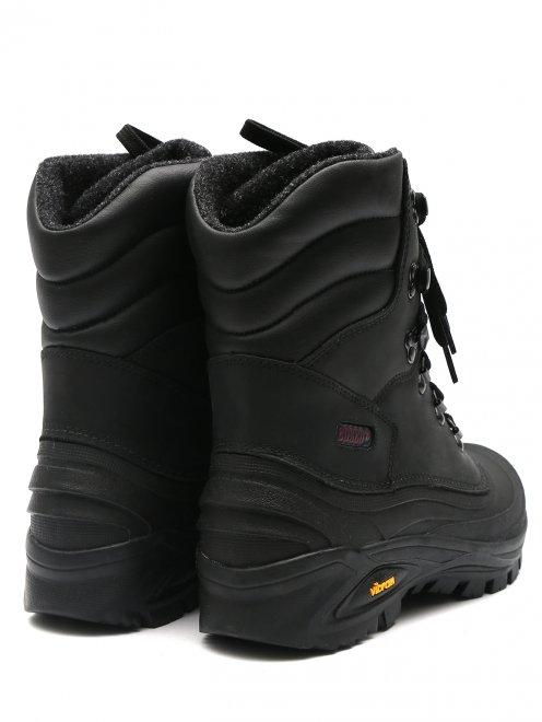 Ботинки кожаные на шнурках - Обтравка2