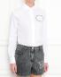 Рубашка из хлопка с принтом Love Moschino  –  МодельВерхНиз