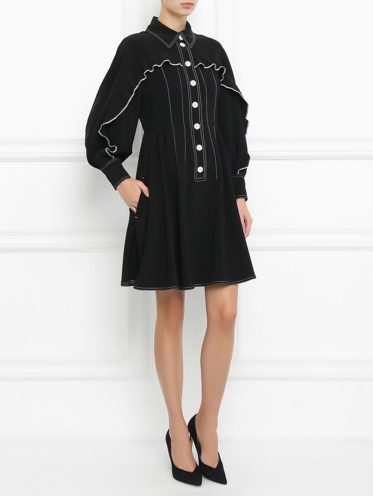 Платье с контрастной отделкой Sportmax  –  Модель Общий вид