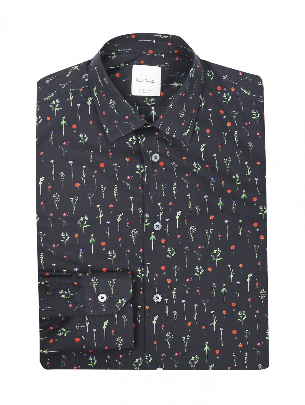 Рубашка из хлопка с узором Paul Smith  –  Общий вид