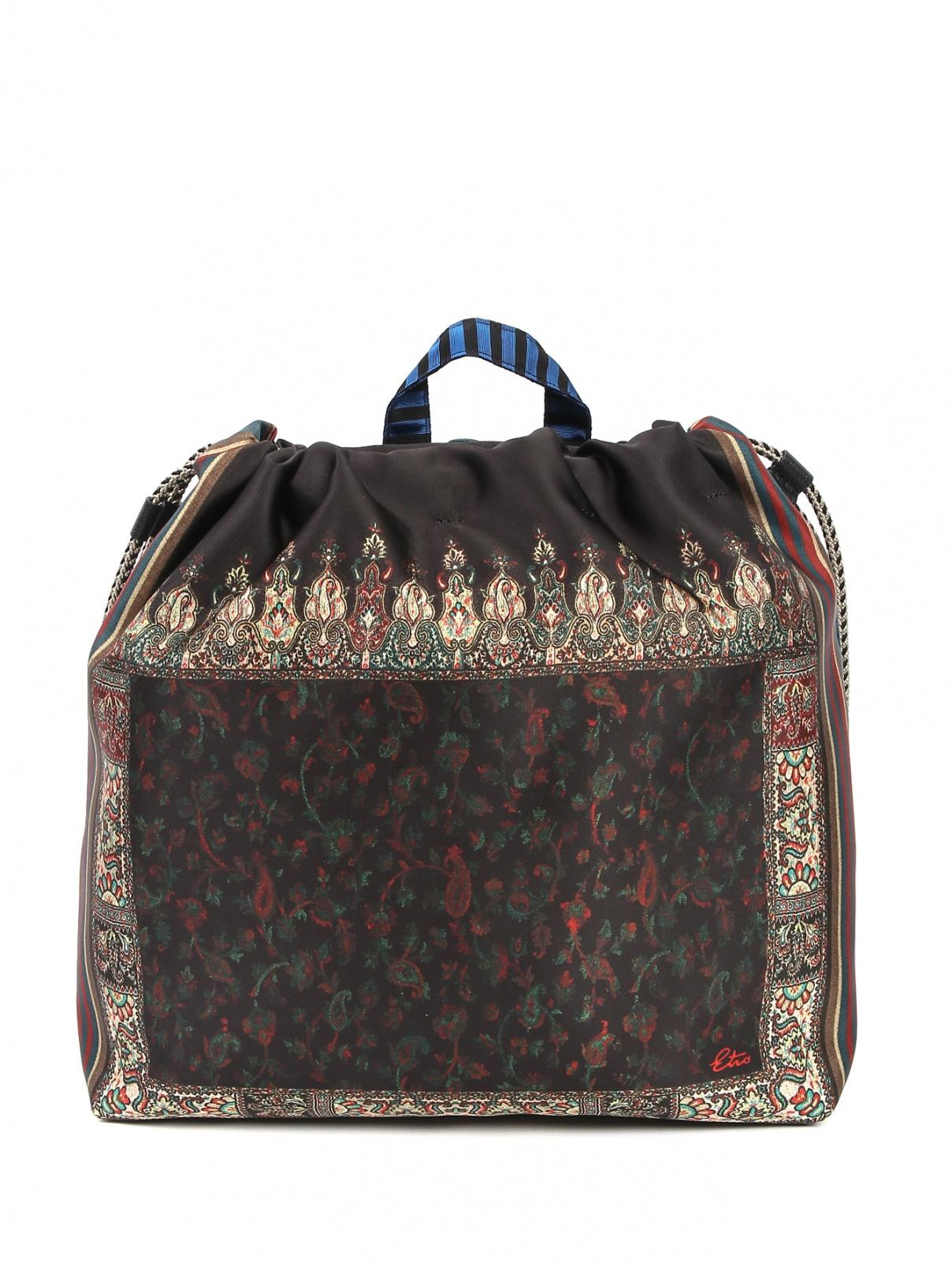 Рюкзак текстильный с узором Etro  –  Общий вид
