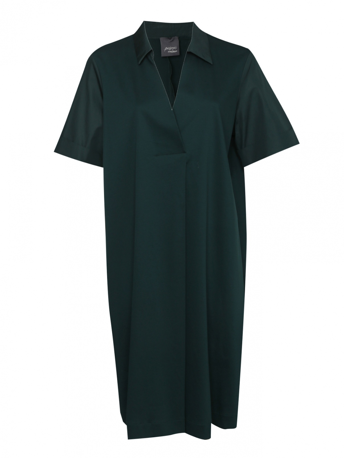 Платье из хлопка с короткими рукавами Persona by Marina Rinaldi  –  Общий вид