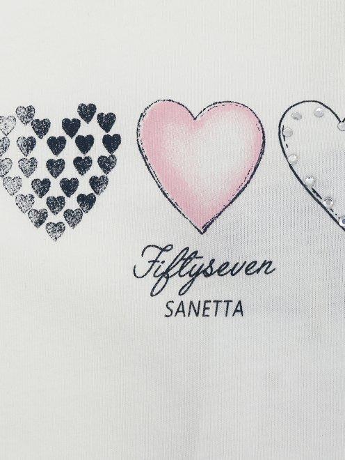 Лонгслив из хлопка с принтом Sanetta - Деталь1