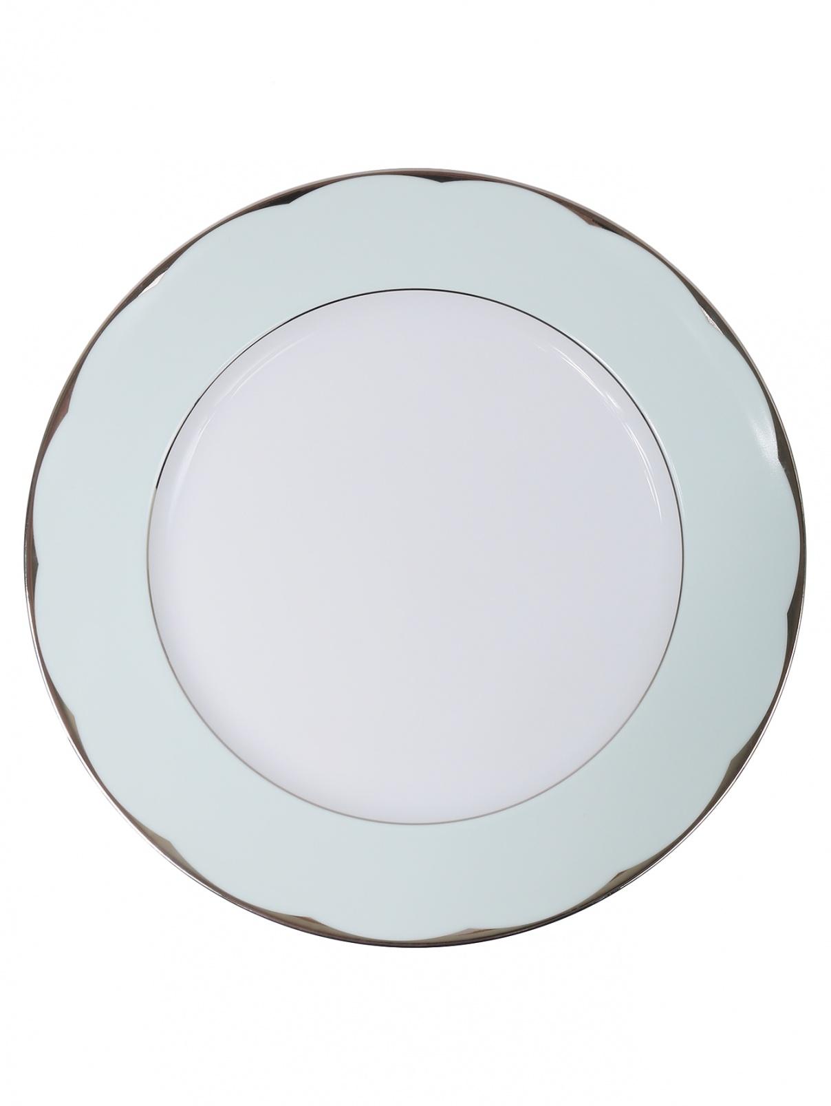 Блюдо круглое из фарфора с серебряной каймой Haviland  –  Общий вид