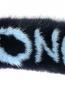 Меховая повязка с узором Moncler  –  Деталь1
